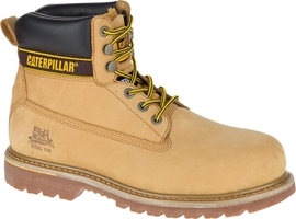 Caterpillar Holton Honey Nubuck Leather Goodyear Welted Safety Boot
