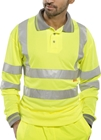 Click Hi-Visibility Polo Shirt Long Sleeve