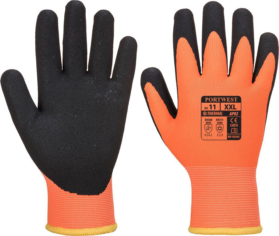 PortWest Unisex Antarctica Insulatex Glove Tan Various Size A245