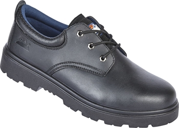 Himalayan Black Leather 3 Eyelet Safety Shoe