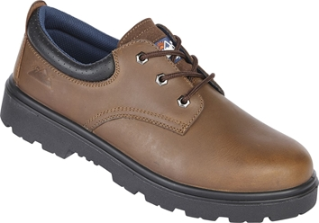 Himalayan Brown Leather 3 Eyelet Safety Shoe