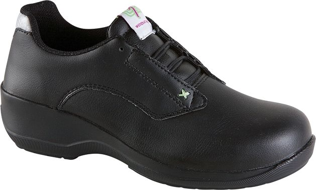 Himalayan Ladies Black Microfibre Lace Safety Shoe
