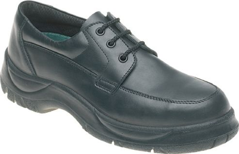 Himalayan Black Leather Wide Grip Safety Shoe