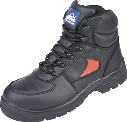 Himalayan Black/Red Leather Safety Trainer Boot