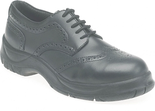 Himalayan Black Leather Wide Grip Brogue Safety Shoe