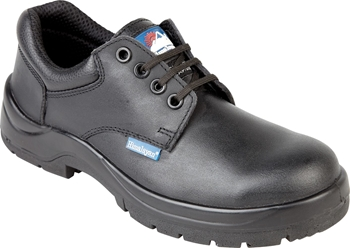Himalayan Black Leather HyGrip Safety Shoe