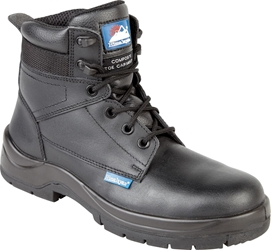 Himalayan Black Leather HyGrip Safety Boot