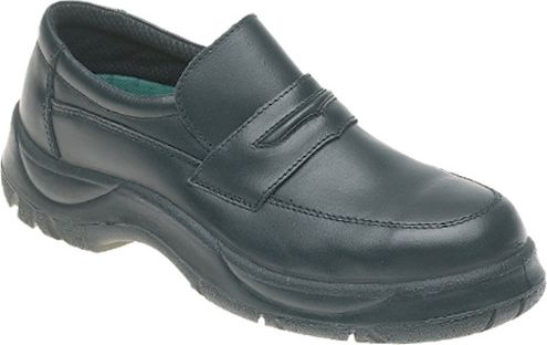Himalayan Black Leather Wide Grip Casual Safety Shoe