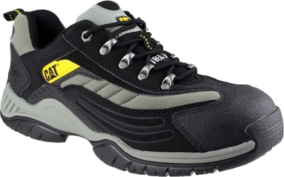 Caterpillar Moor Black/Silver PU/Nubuck Lightweight Safety Trainer