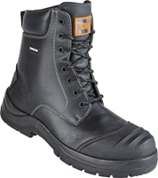 Unbreakable TRENCH-MASTER Black Fully Waterproof Metal Free Combat Safety Boot