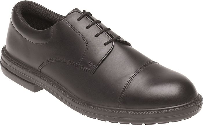 Himalayan Black Leather Formal Safety Shoe