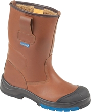 Himalayan Brown HyGrip Safety Warm Lined Rigger Boot