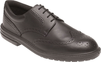Himalayan Black Leather Brogue Safety Shoe