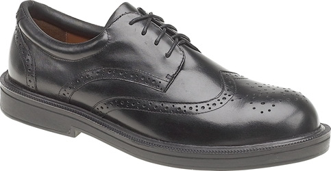 Himalayan Black Executive Leather Brogue Shoe