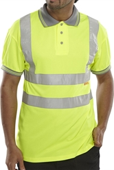 Click Hi-Visibility Polo Shirt Short Sleeve