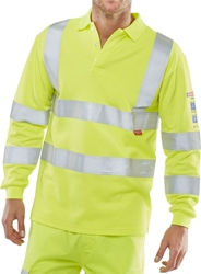 Click Fire Retardant Anti-Static ARC Hi-Visibility Polo Shirt