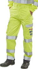 Click Fire Retardant Anti-Static ARC Hi-Visibility Trousers