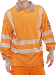 Click Fire Retardant Anti-Static ARC Hi-Visibility GO/RT Polo Shirt