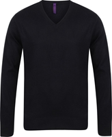 Henbury Mens 12Gg V Neck Jumper