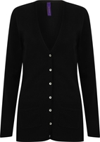 Henbury Ladies V Button Cardigan