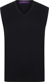 Henbury Mens Sleeveless V Neck Jumper