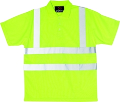 Proforce Yellow Hi Vis Class 2 Polo Shirt