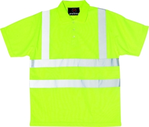 Proforce Yellow Hi Vis Class 2 Polo Shirt Yellow