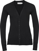 Russell Ladies V-Neck Knitted Cardigan