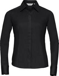 Russell Ladies Long Sleeve Fitted Poplin Shirt