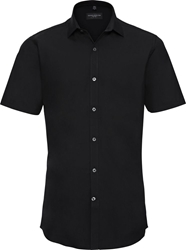 Russell Mens Short Sleeve Ultimate Stretch Shirt