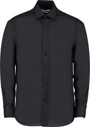 Kustom Kit Slim Fit Bus Shirt Long Sleeve