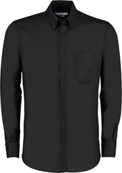 Kustom Kit Slim Fit Long Sleeve Oxford Shirt