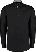 Kustom Kit Contrast Oxford Long Sleeve Button Down