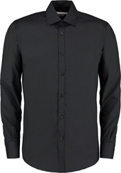 Kustom Kit Slim Fit Bus. Long Sleeve Shirt