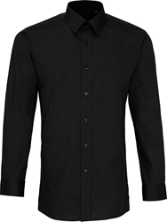 Premier Workwear Colours Poplin Fitted Long Sleeve Shirt