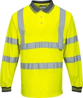 Portwest Hi-Vis Polo Shirt L/S
