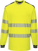 Portwest PW3 Hi-Vis T-Shirt Long Sleeve