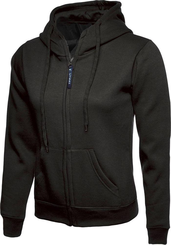 Personalised Embroidered Ladies Classic Full Zip Hooded Sweatshirt UC505