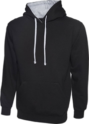 Uneek Contrast Hooded Sweatshirt